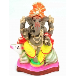 Eco Friendly Clay Ganesha Murti /idols  19 cm