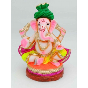 Eco Friendly Clay Ganesha Non Toxic Color Coated 24 cm