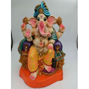 Eco Friendly Clay color full  Ganesha murti/idols 40 inches