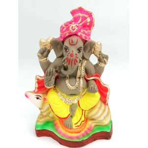Eco Friendly Clay color full  Ganesha murti/idols 27inches