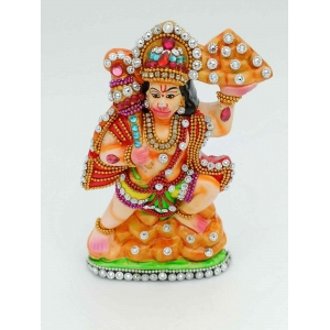 Eco Friendly with statecraft  work Hanuman ji murti/idol 15cm