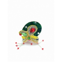 Laddu Gopal mukut Full zari Crown Combo Set no 3,4,5