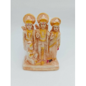 orange Ram darbar/God Rama,Sita,Laxman and hanuman 22 cm