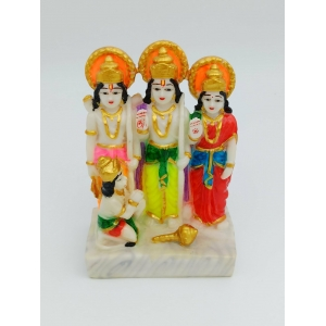 marble finishing Ramdarbar  murti/idol 17cm