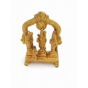 brass Lord Rama Laxman and Sita murti/iodl 9cm