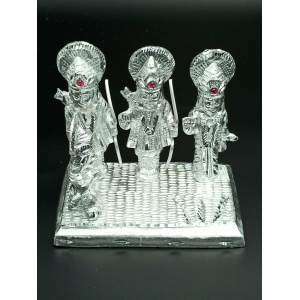 White Metal Lord Ram Darbar Idol 10 cm