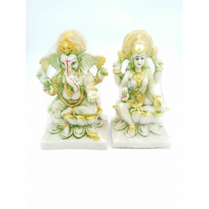 Iconic Polyresin Laxmi Ganesha Idol Decorative Showpiece,16 cm